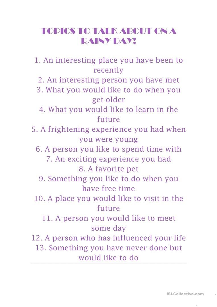 Topics To Talk About On A Rainy Day Topics To Talk About Relationship Goals Text Topics