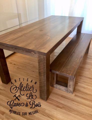 Table de cuisine en bois sur mesure mobilier de salle à manger et