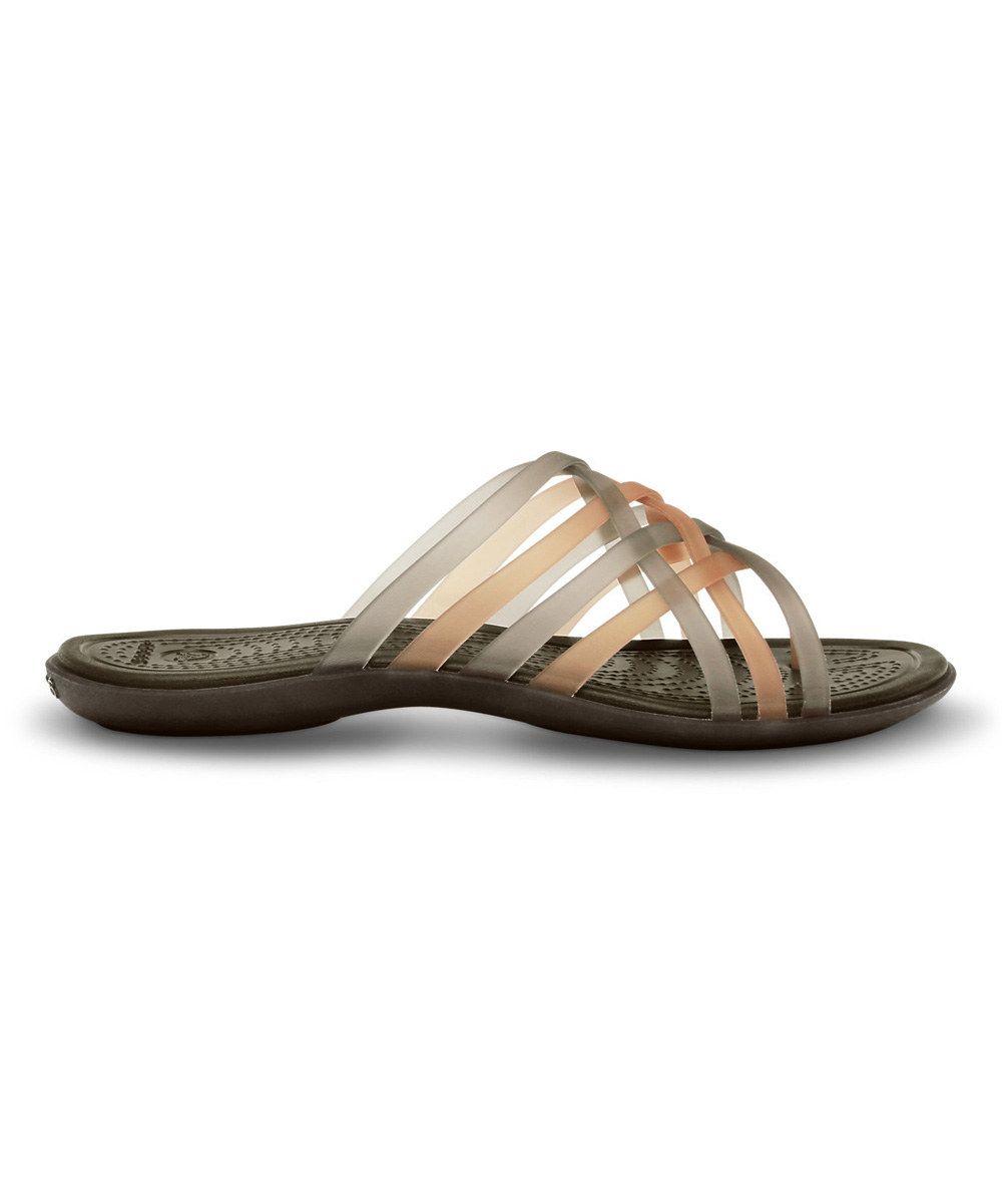 3d5dd36133834 Another great find on  zulily! Crocs Bronze   Espresso Huarache Flip-Flop -  Women by Crocs  zulilyfinds