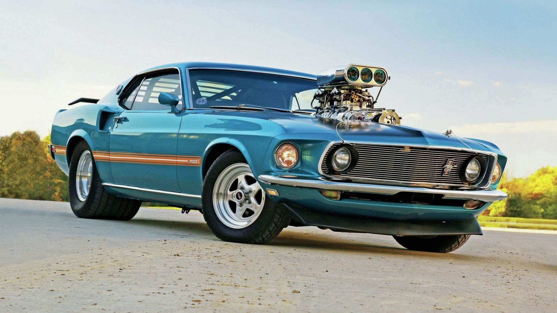 1969 Ford Mustang Muscle Car Wallpapers And Backgrounds Best Car