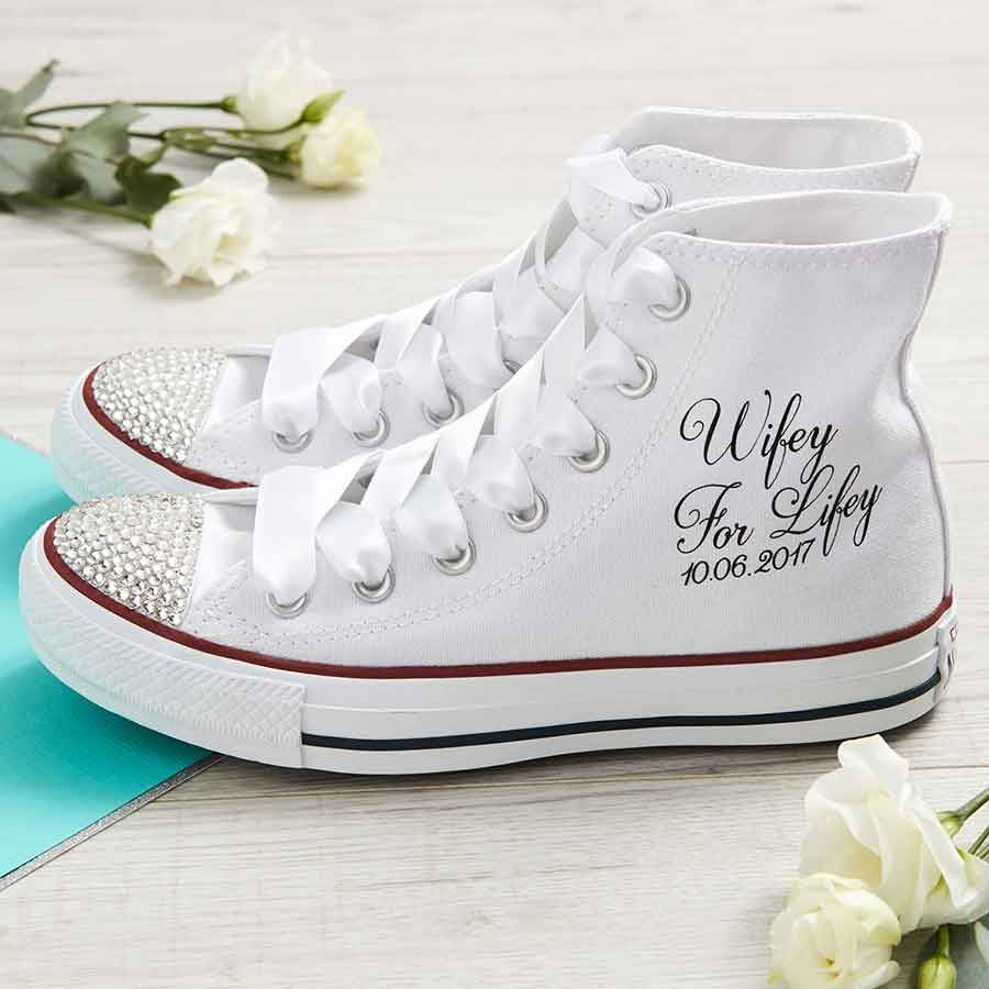Wifey For Lifey Wedding Converse Shoes