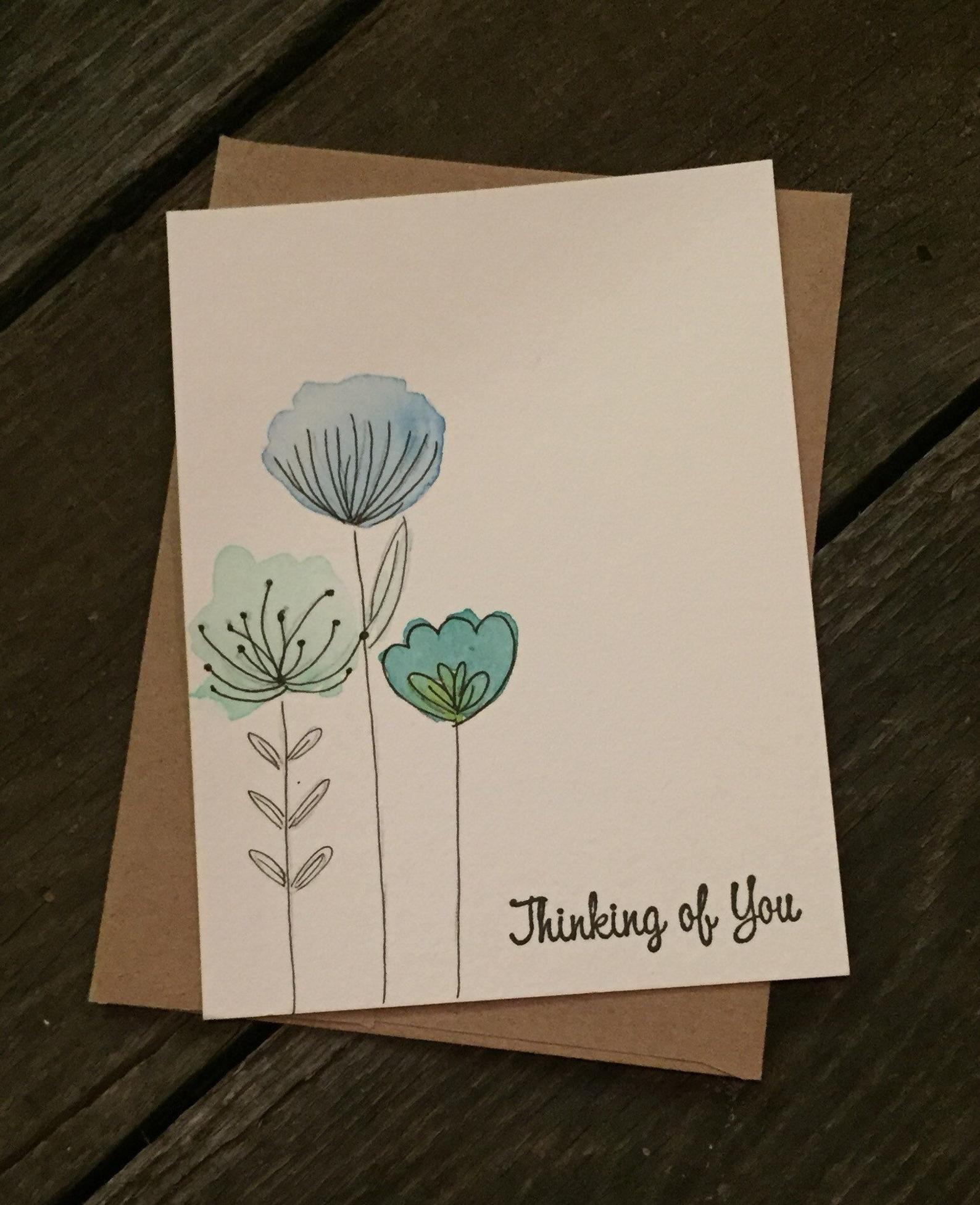Aquarell angepasste Karten Geburtstagskarten Nur weil | Etsy