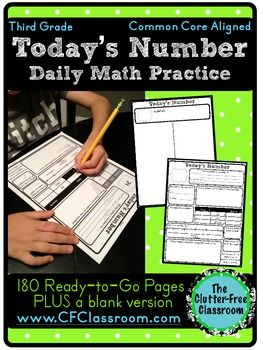 3rd Grade Number Of The Day Number Sense Math Morning Work