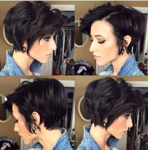 Nice Stylish Asymmetrical Short Pixie Haircuts And Hairstyles Women Short Hair Style Idea Pixie Haircut For Thick Hair Haircut For Thick Hair Short Hair Styles