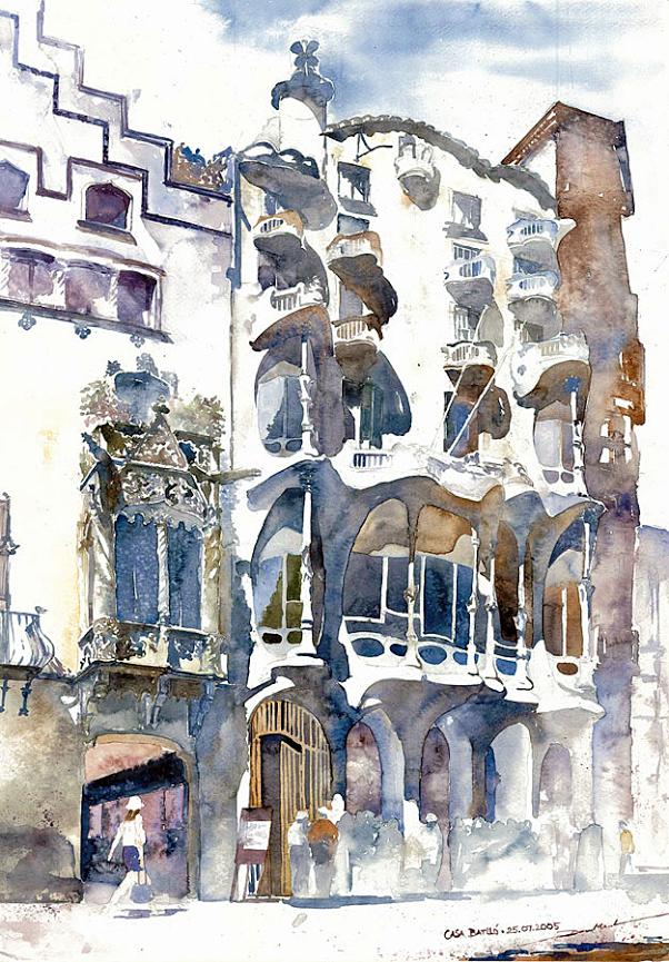 Minh Dam. Casa Batlló (Gaudi) Barcelona