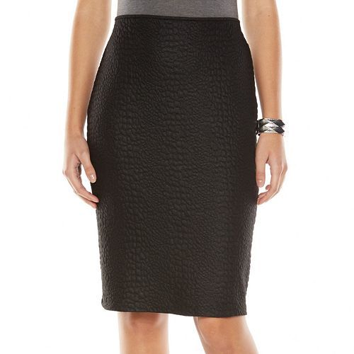 Apt. 9® Jacquard Pencil Skirt - Women's