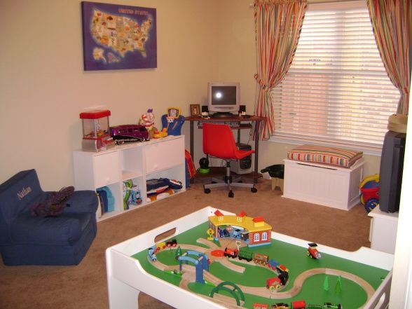 boys+playrooms+images   Playroom Before, Five year old boy's play room. Before., Low-budget ...