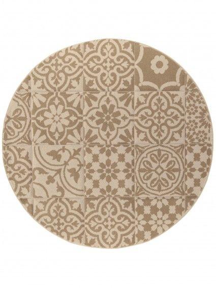 teppich rund patchwork-mosaico taupe ø 200 cm rund | zukünftige, Hause ideen