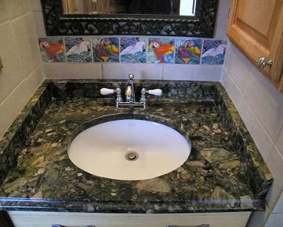 Verde Marinace Granite Vanity Top We Chose A Really Deep Dark Green Stone Called Verde Marinace For Our Granite Granite Vanity Tops Stone Interior Vanity Top