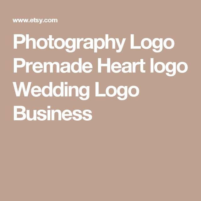 Wedding Branding Ideas: Photography Logo Premade Heart Logo Wedding Logo Business