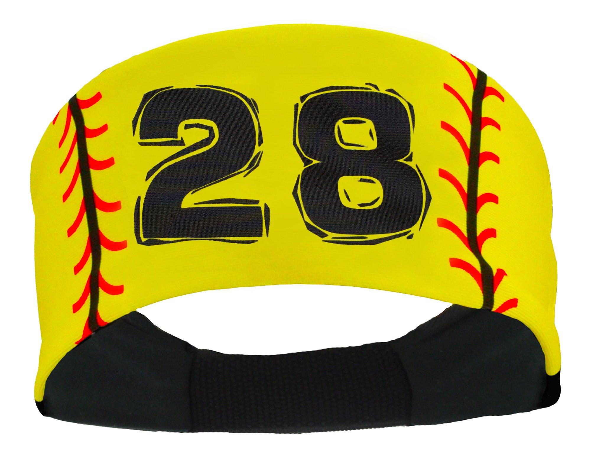 Player ID Softball Stitch Headband (numbers 0039