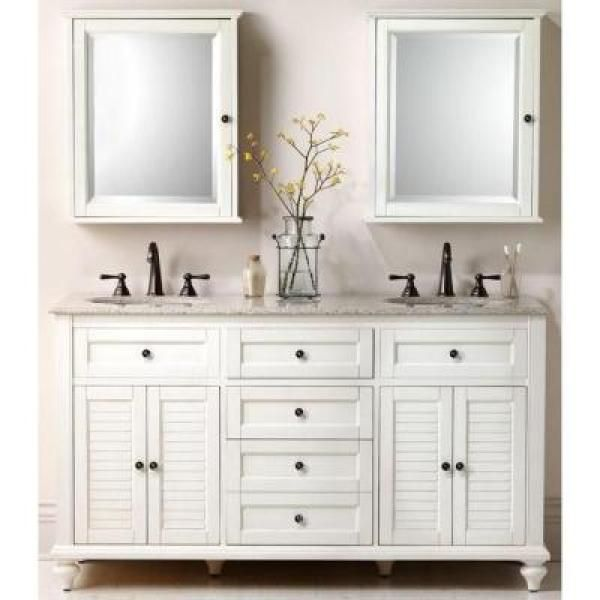Home Depot Medicine Cabinet With Mirror Captivating Home Decorators Collection Hamilton 2334 Inw X 27 Inh X 8 In