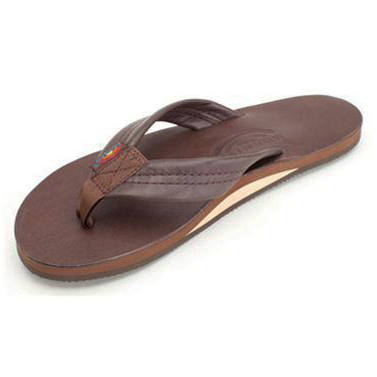 de4606b23 Rainbow Womens Leather Wide Strap Single Layer Arch Sandal Mocha Size Large  (11)    Find out more details by clicking the image   Flip flops