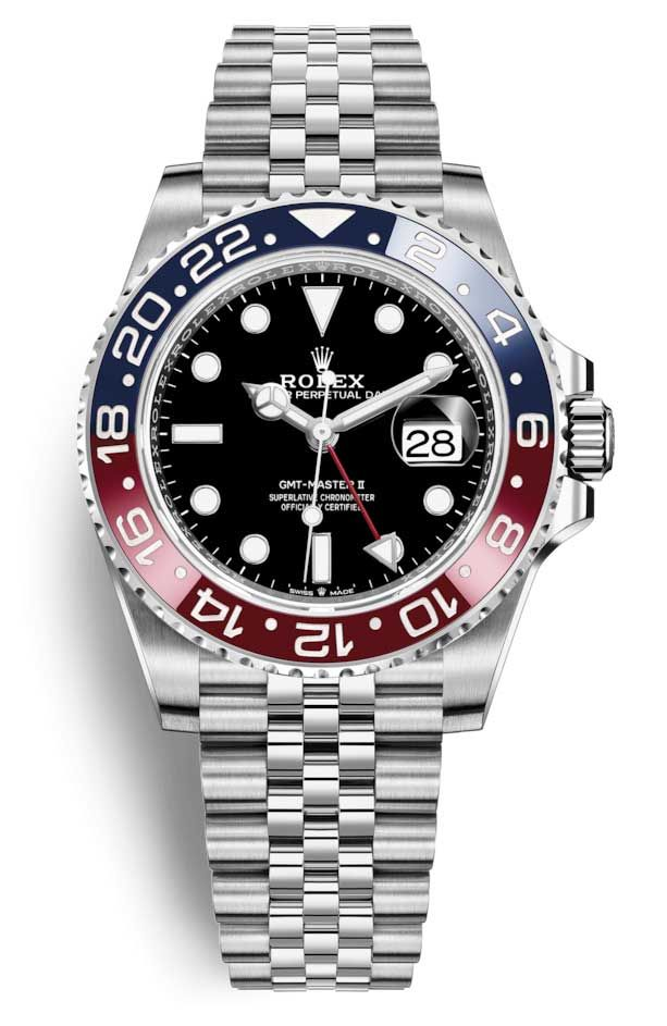 Rolex Oyster Perpetual Date GMT-Master II Oystersteel Men's Watch #rolexwatches