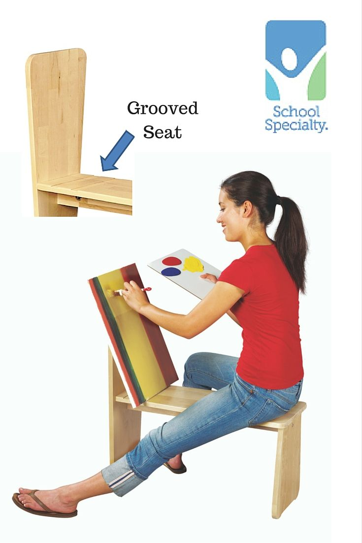 Art horse—Designed for student comfort, the grooved 15