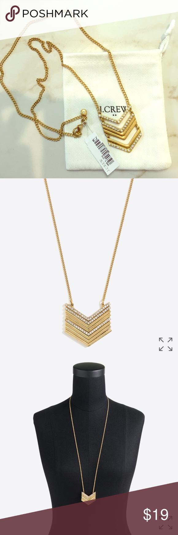 Nwt j crew chevron pendant necklace pendants customer support and
