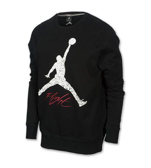 nike air jordan jumpman crew sweatshirt with side