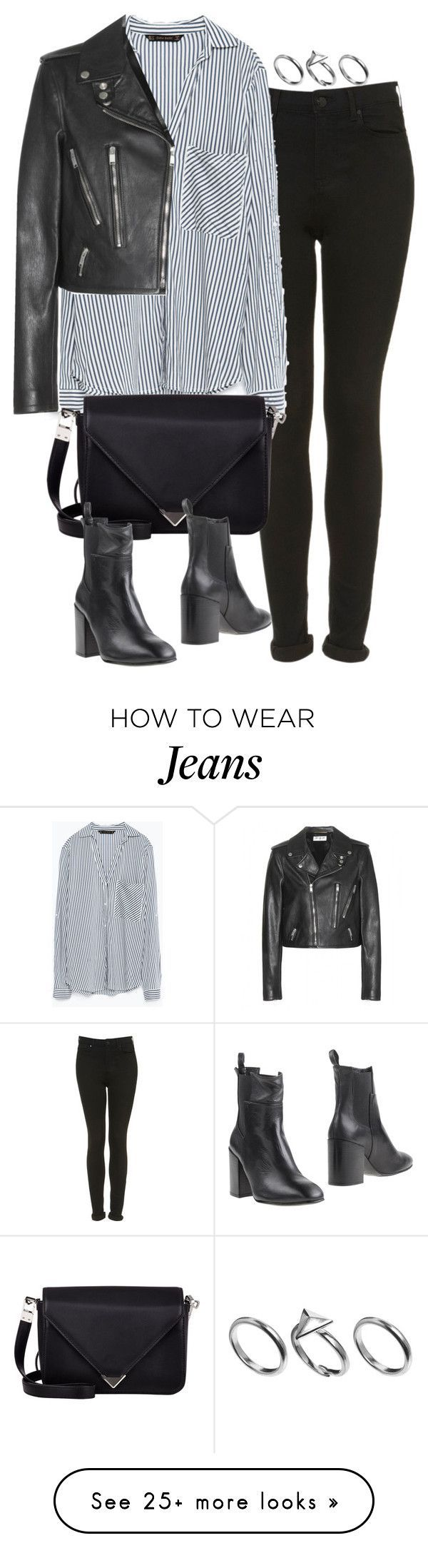 """""""Untitled #4906"""" by eleanorsclosettt on Polyvore featuring Topshop, Zara, Yves Saint Laurent, Alexander Wang, Eqüitare and Pilgrim - mens casual black button down shirt, mens shirts buy online, navy button down shirt mens *ad"""