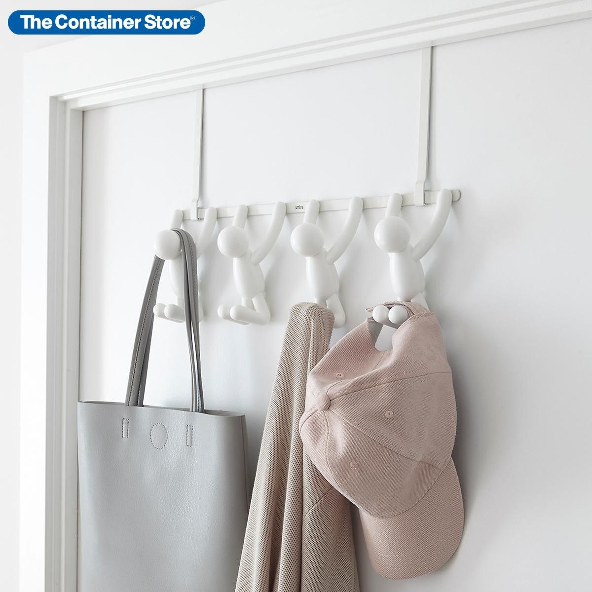 Umbra White Buddy Over The Door Hook Rack In 2020 Over The Door Hooks Door Hooks Hook Rack