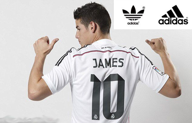 separation shoes bd016 2d0e2 REAL MADRID JAMES Rodriguez NEW Soccer Football Jersey Size ...