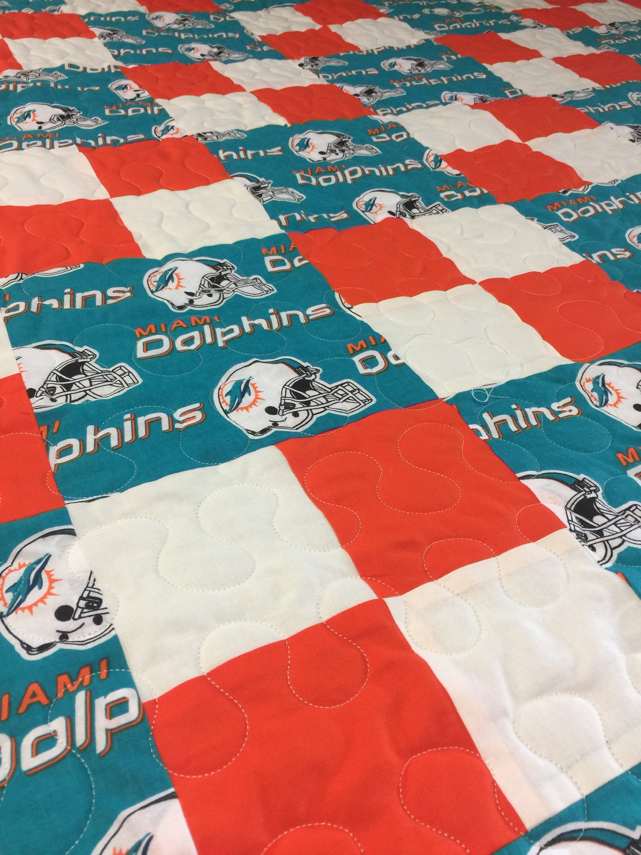 Miami Dolphins Handmade Quilt Quilts Handmade Quilts Handmade