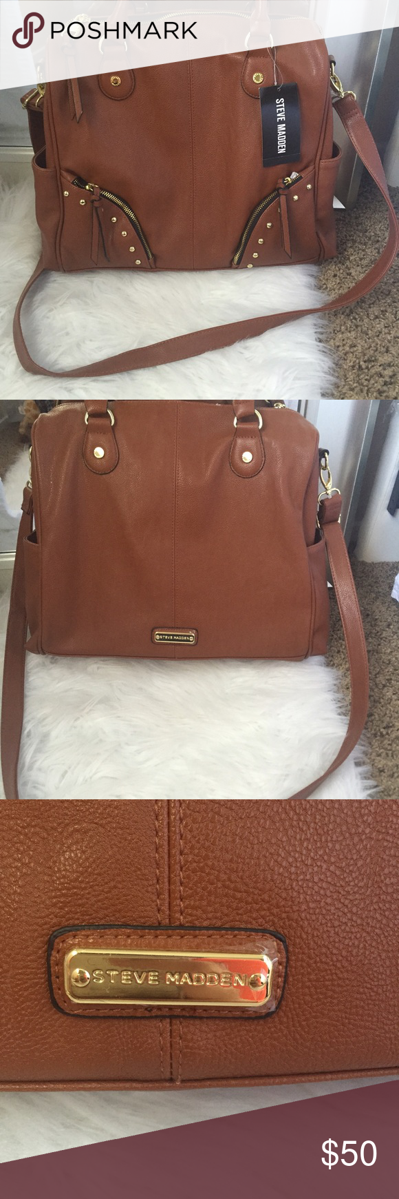 Brand New Purse It Has A Removable Shoulder Strap So You Can Wear However Want Price Is Firm Steve Madden Bags