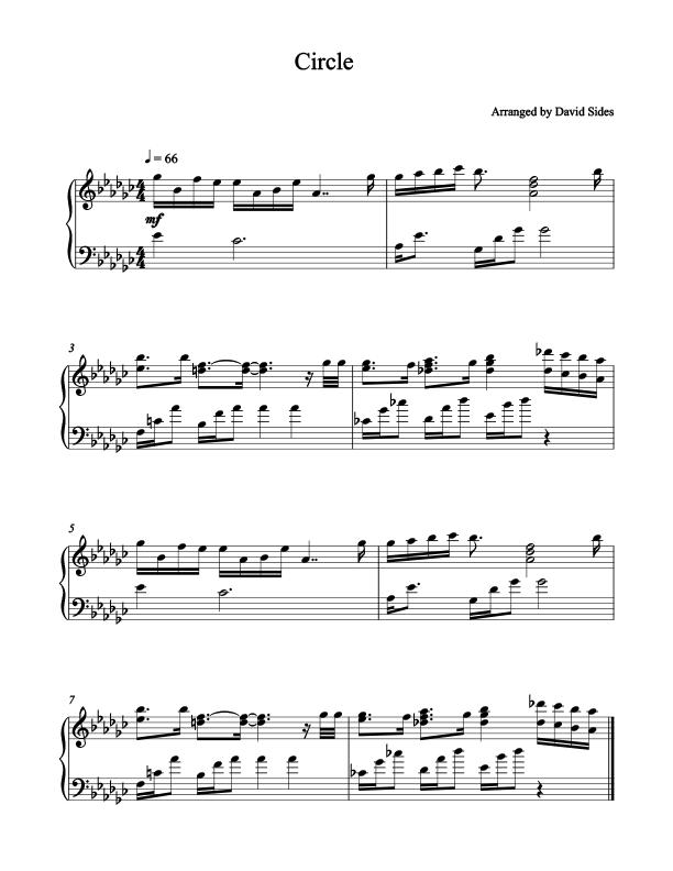 Circle (Marques Houston) Piano Sheet Music | Marques houston ...
