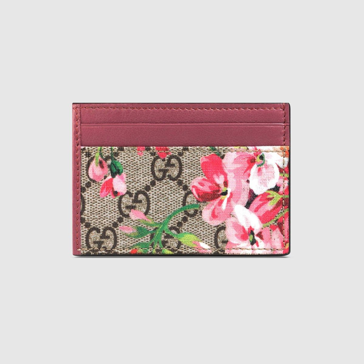 6354afc272b GUCCI Gg Blooms Card Case - Gg Supreme Canvas Blooms.  gucci  bags  leather   canvas