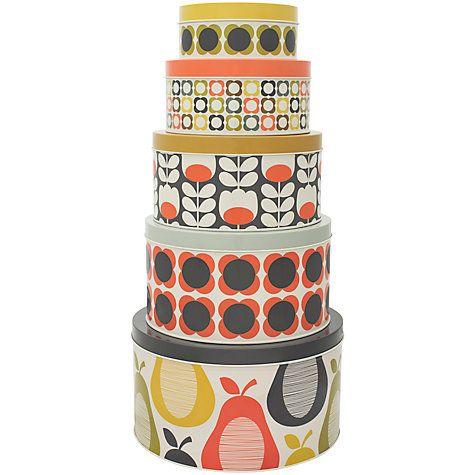 Orla Kiely Cake Storage Tins Set Of 5 Online At Johnlewis