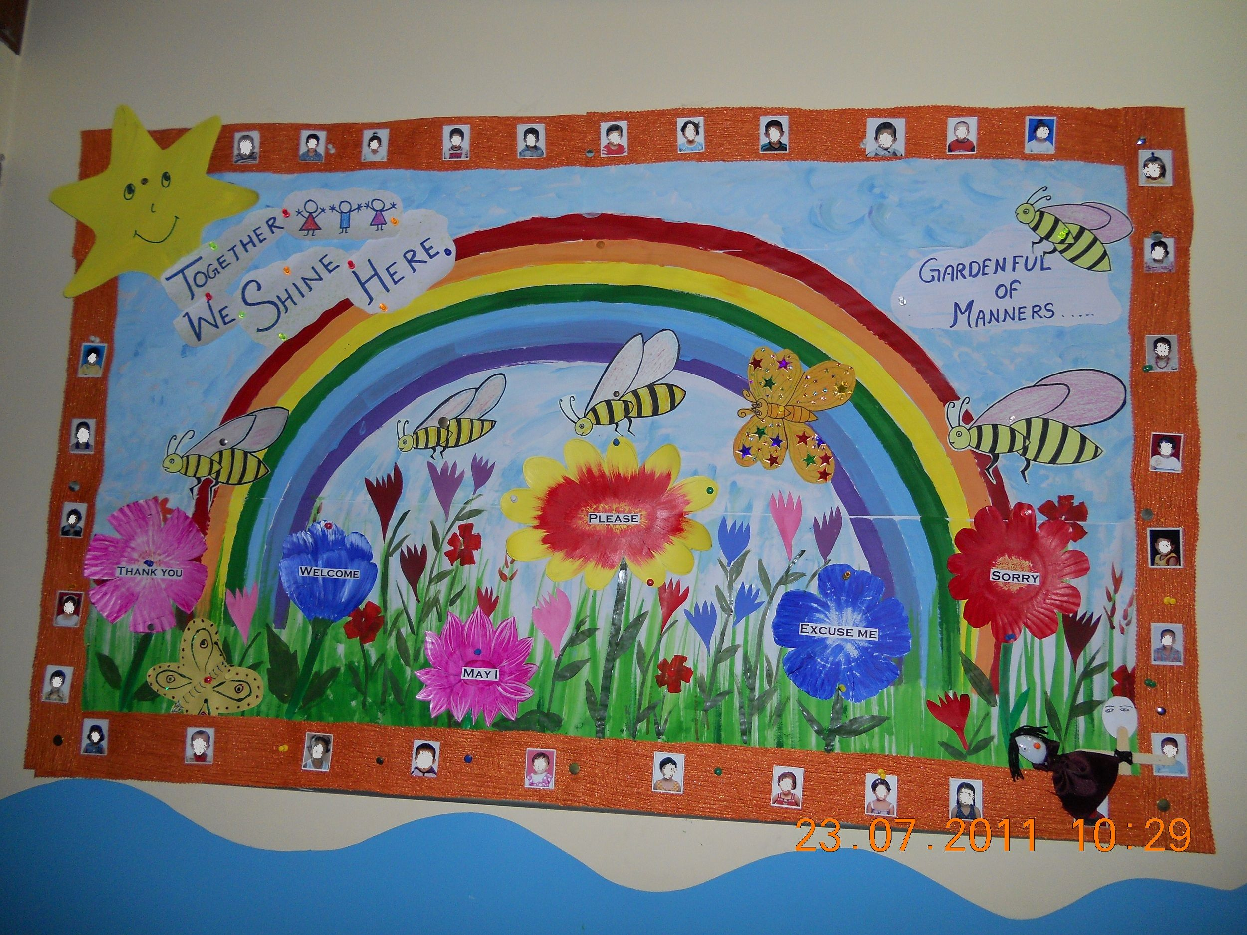 Together We Shine Back To School Manners Bulletin Board
