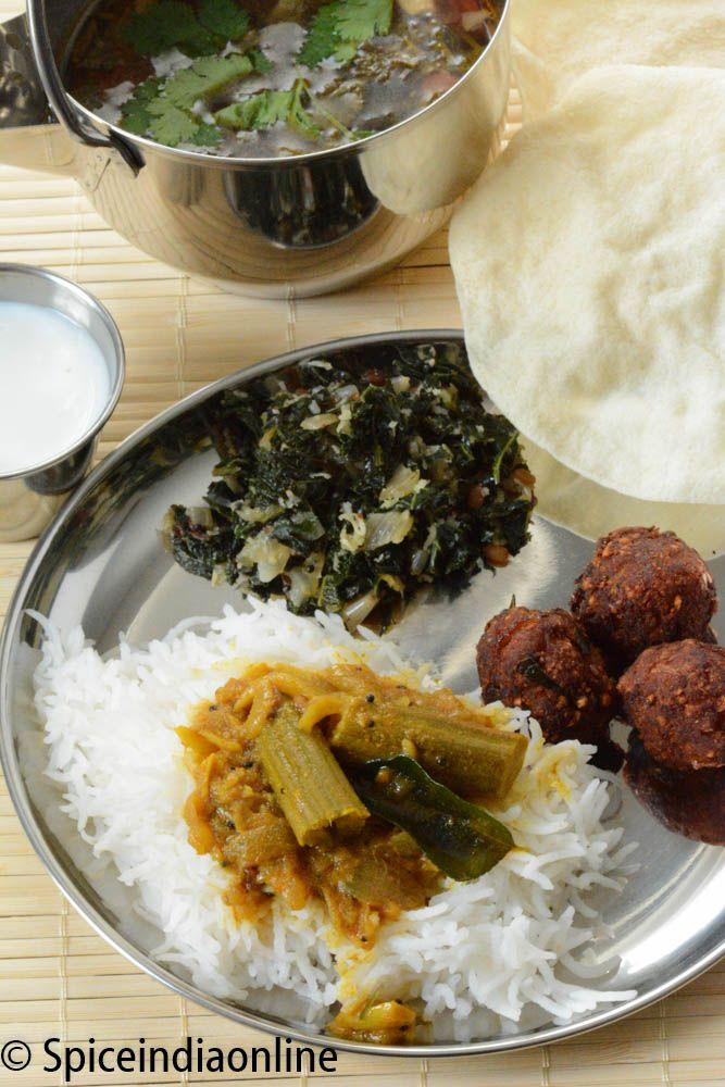 Indian vegetarian meals menu and recipes