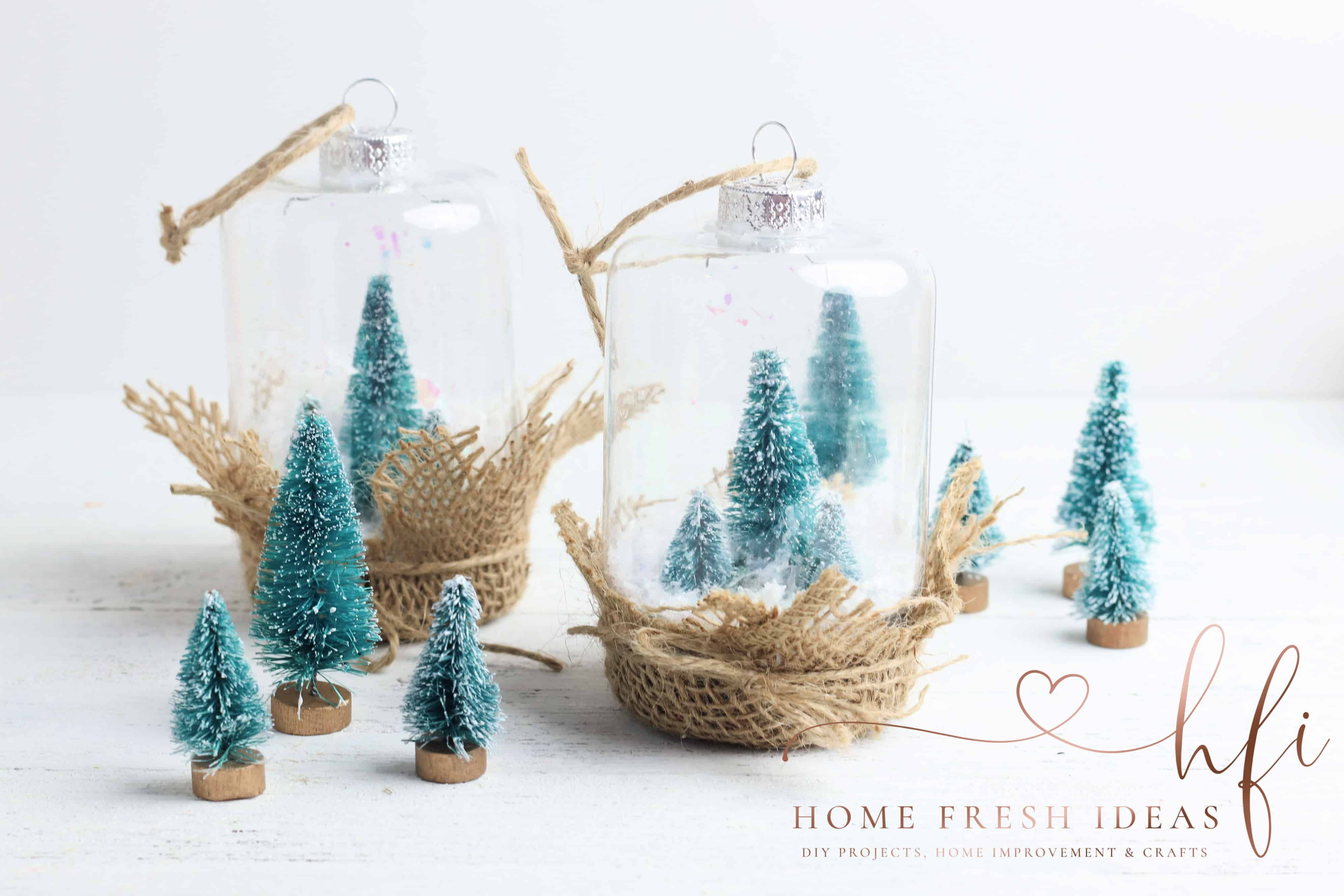 Festive DIY Christmas Snow Globe Christmas crafts to
