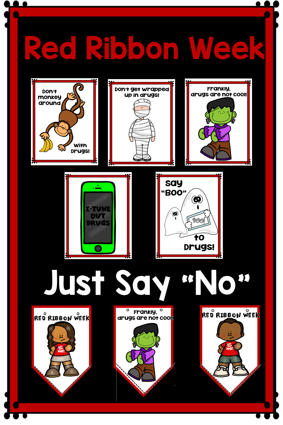 Do You Need Some Drug Awareness Materials For The Youngest Learners These Posters Banners Mini Booklets And Mobiles Red Ribbon Week Red Ribbon Mini Booklet [ 1440 x 960 Pixel ]