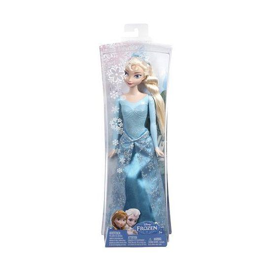Tienerpop van Elsa van Frozen. Elsa draagt een schitterende lichtblauwe jurk en kroon. Deze pop is 29 cm lang en 9 cm breed. Geschikt voor kinderen vanaf 3 jaar.