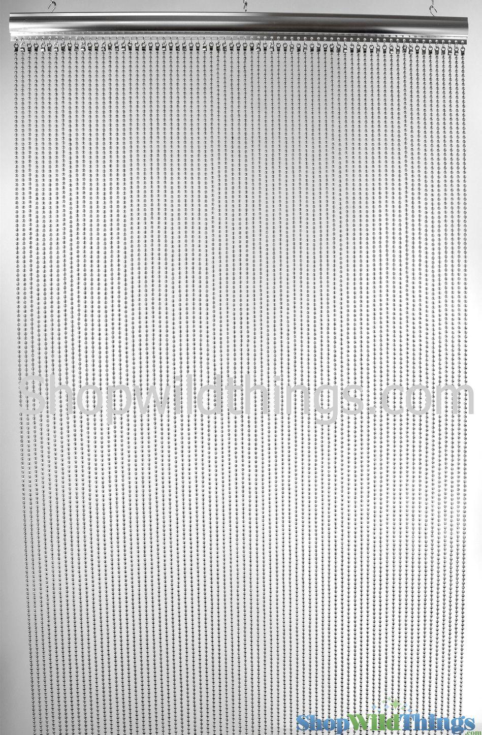 Real Steel Ball Chain Curtain Nickel Color 35 X 6 Custom