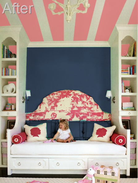 Navy and pink bedroom ideas