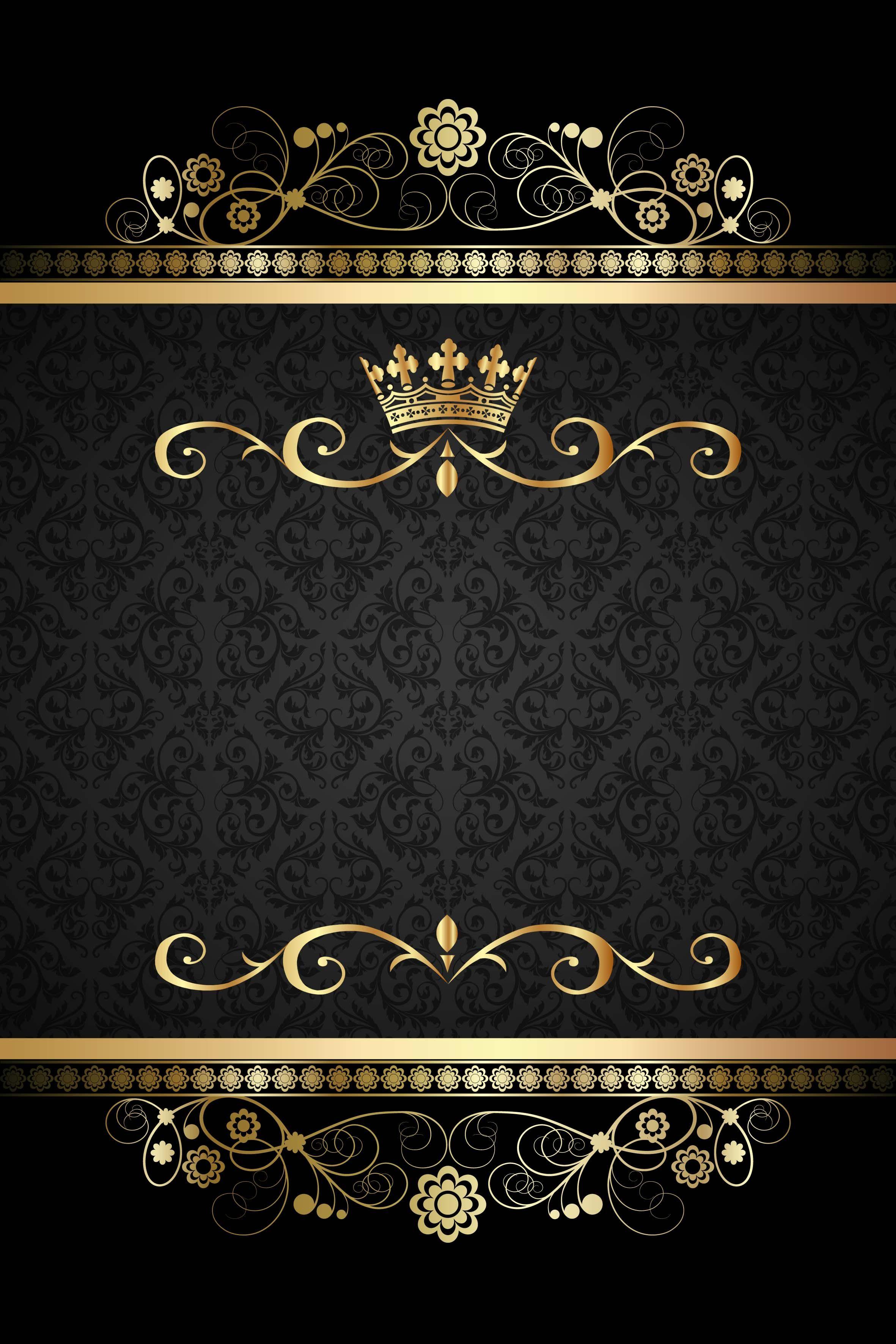 Black Vintage Damask Pattern Vector Background Patrones Damascos Papel Tapiz Para Paredes Patron De Fondo