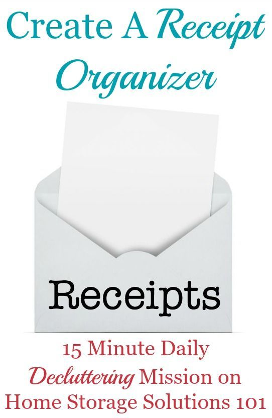 How To Use A Receipt Organizer To Keep Paper Clutter At Bay - create receipts free