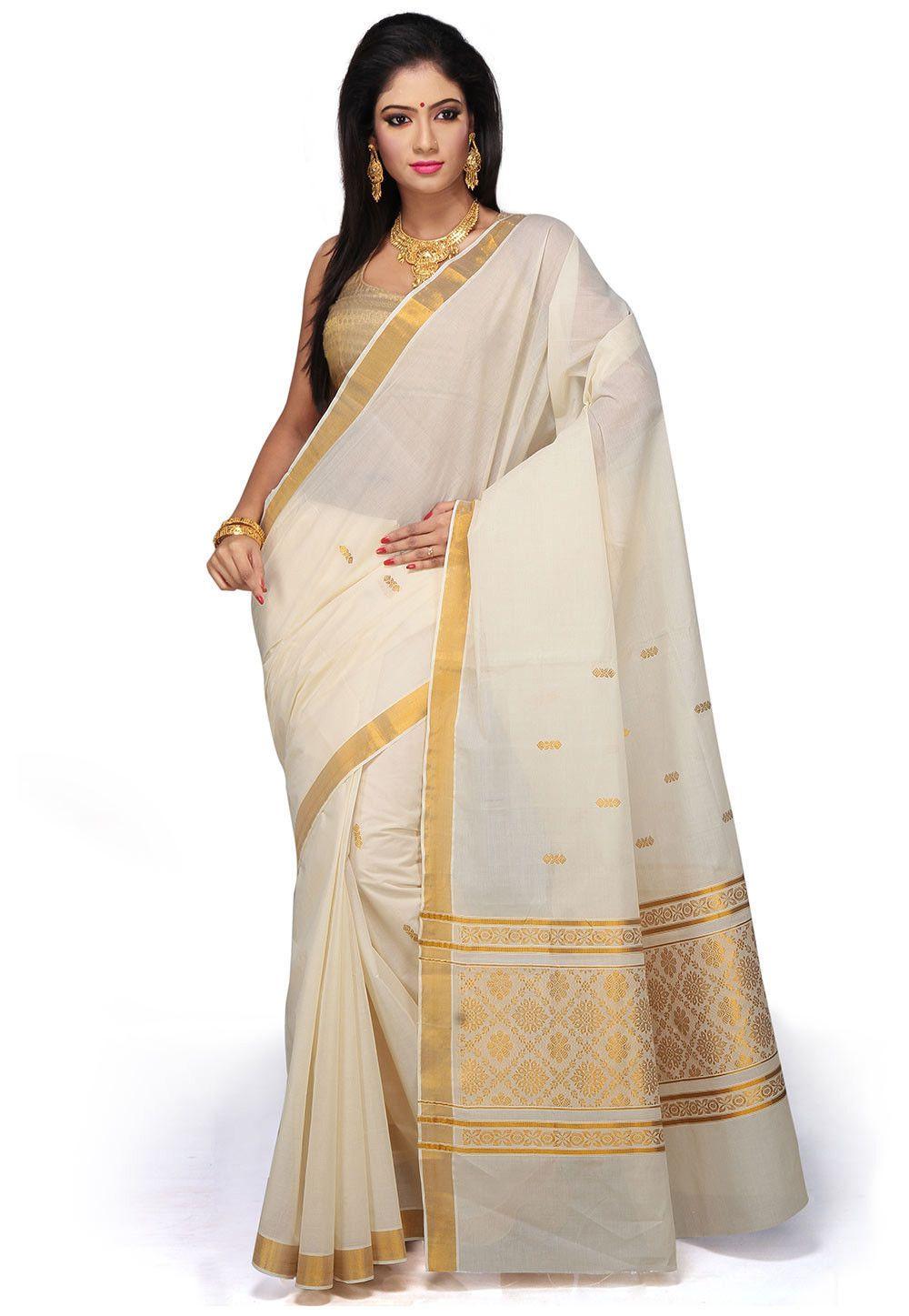 6816183a69 Pin by Joshindia.com on Kerala Sarees | Pinterest | Saree, Kerala saree and Cotton  saree
