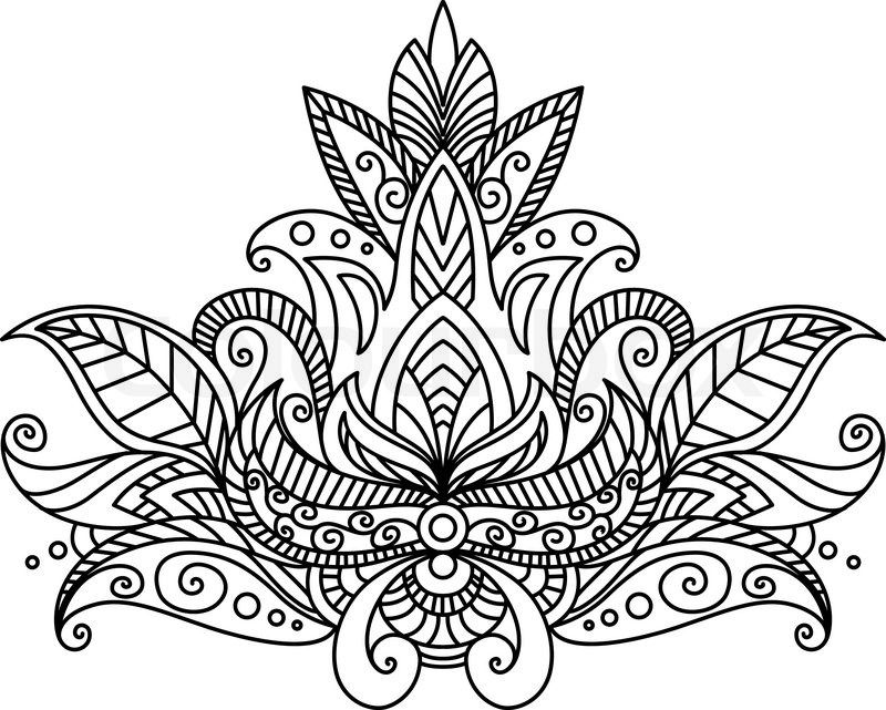 indian designs coloring pages - photo#21