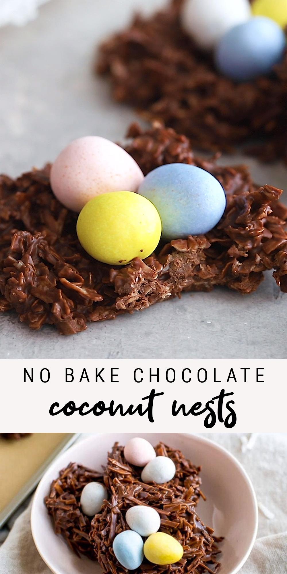 No Bake Chocolate Coconut Nests | Vegan + Gluten-Free -   Vegan + Gluten-Free, presentamos la mejor...