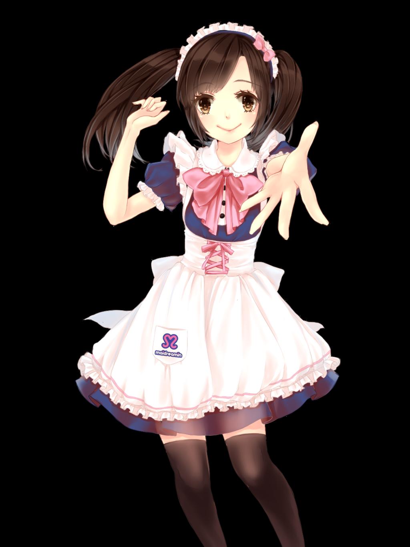 Manga Mädchen in Maiduniform .. süß kawaii moe
