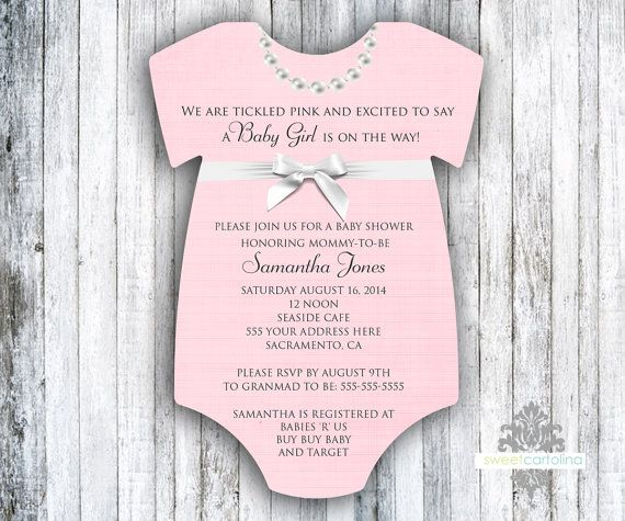 Pink Pearls Baby Shower Invitation