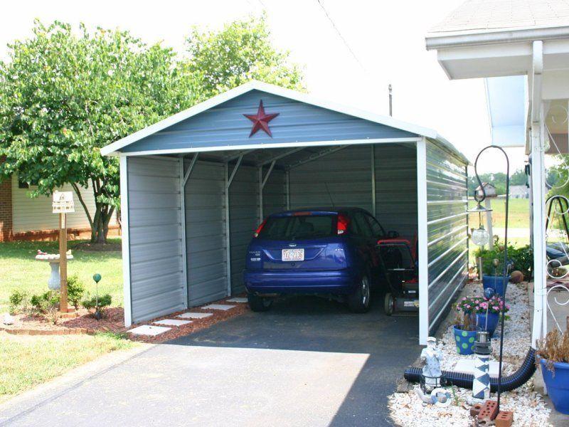 12x21_boxed_eave_single_car_carport Carport, Metal carports