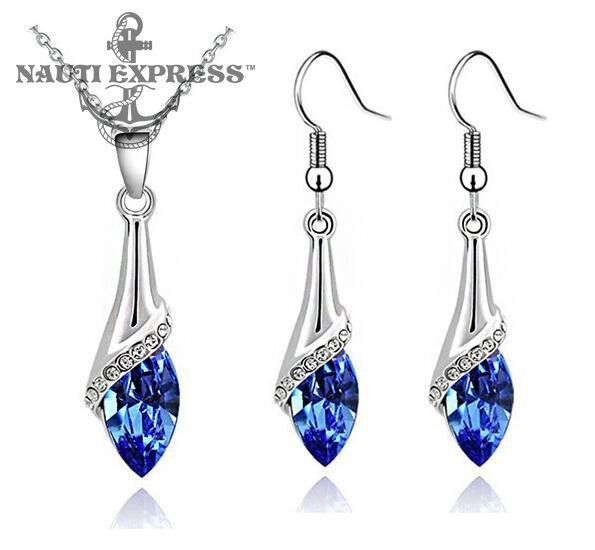 aba1ab7ee Angel's Tears Water Droplet Necklace & Earrings Set Eye Jewelry, Jewelry  Sets, Jewelry Accessories