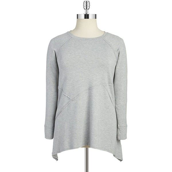 55fa47deff3 Calvin Klein Performance Womens Sharkbite Sweatshirt ( 69) ❤ liked on Polyvore  featuring plus size
