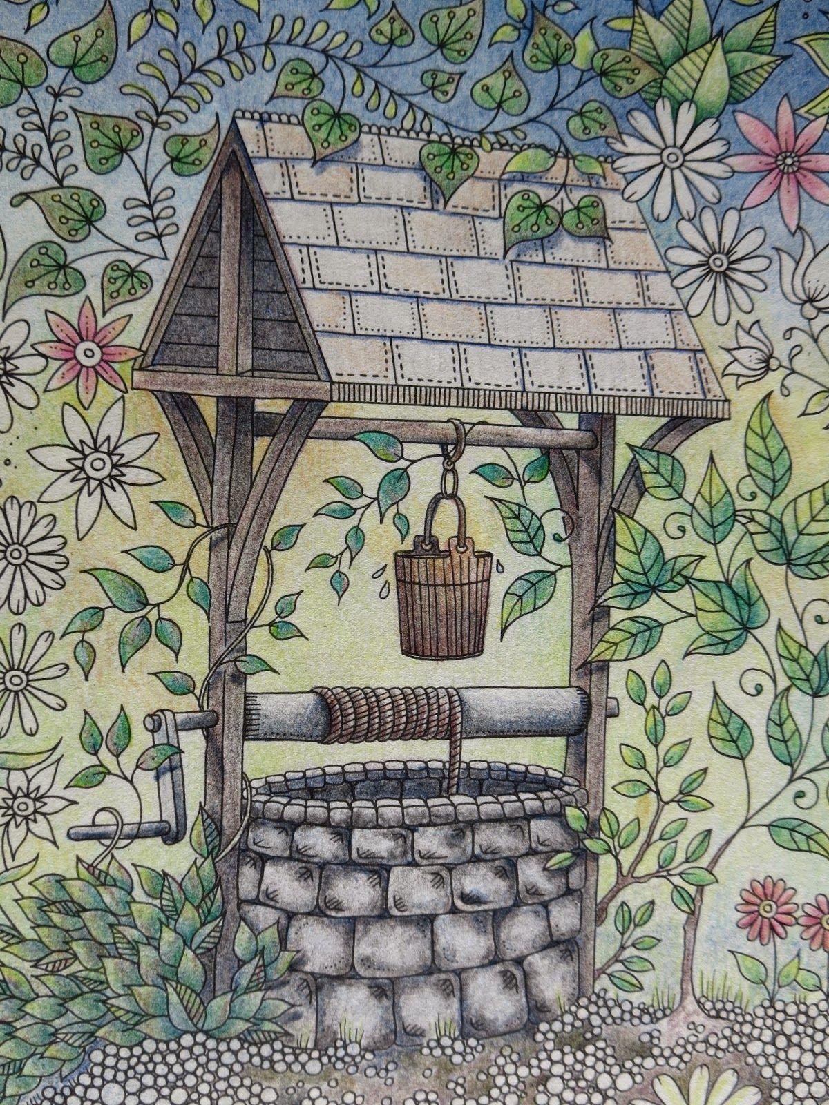 pion for pencils my secret garden colouring book the well part 2 johanna basford - Secret Garden Coloring Book