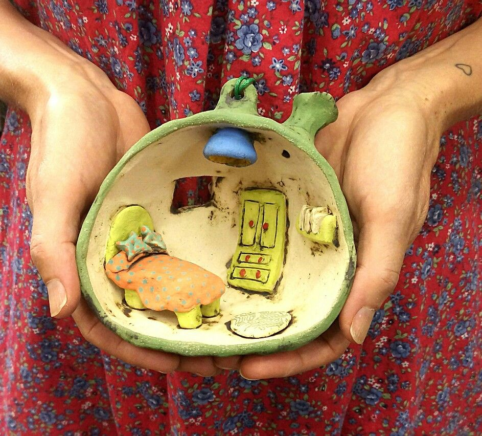 Excited to share the latest addition to my #etsy shop: Clay houses ...
