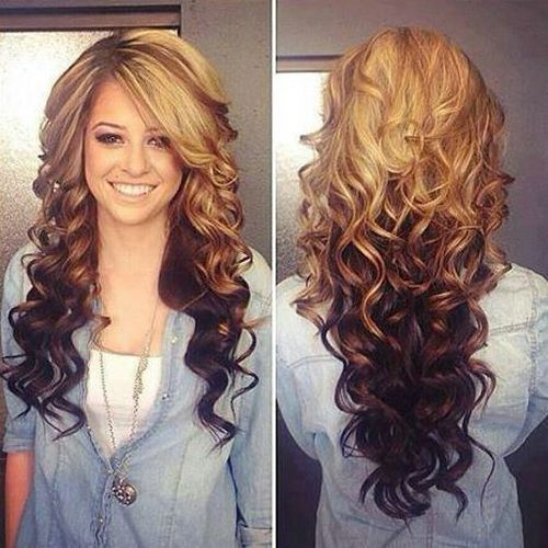 Long Curly Two Tone Hair Colors Jpg 500