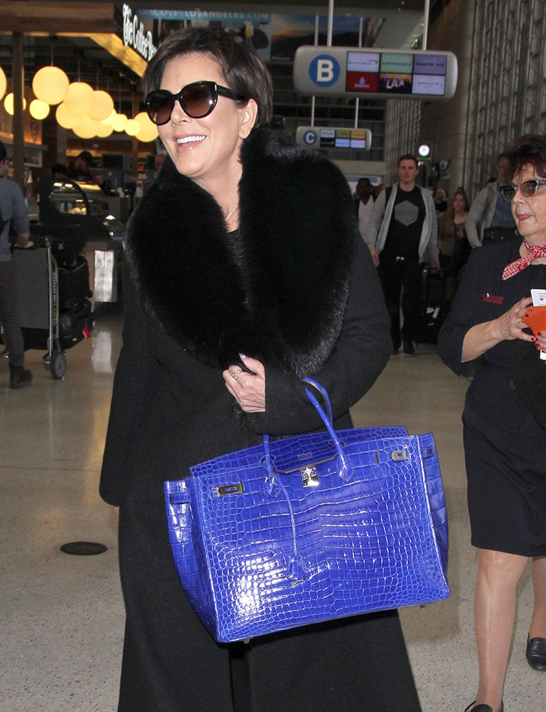 9c46273dc0 Kris-Jenner-Hermes-Shiny-Electric-Blue-Crocodile-Birkin